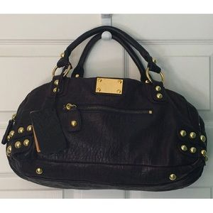 Linea Pelle Dylan Large Croc Leather Speedy Bag